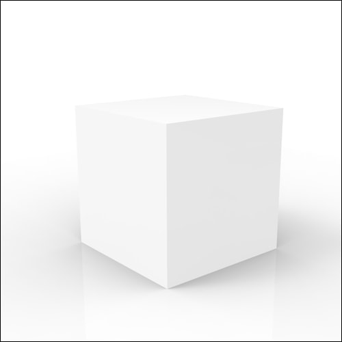 White Acrylic Cube Lounge End / Side / Display Table