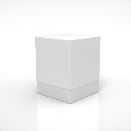 Acrylic White Cube Lounge End Side Display Table With White Base - Acrylic cube side table