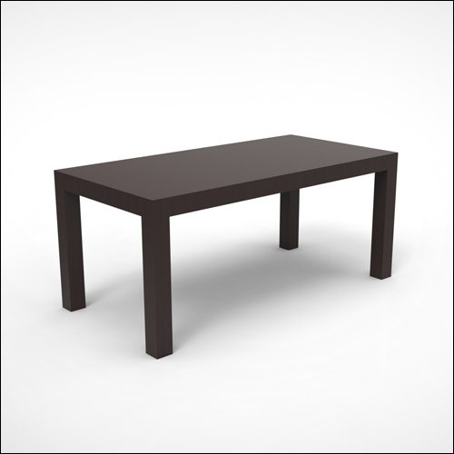 4x8x42h Parson Dining Cocktail Display Table Espresso